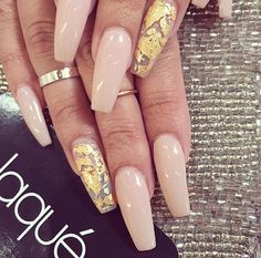 Nude with gold foils