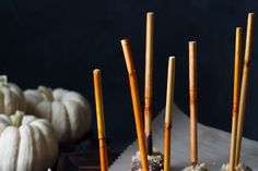 Chocolate-Covered Pumpkin Cheesecake Pops
