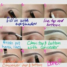 How To Properly Do Your Eyebrows :) Like A Pro #Fashion #Beauty #Trusper #Tip
