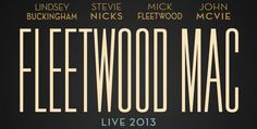 """Promotional graphic for Fleetwood Mac's """"2013 World"""" tour."""