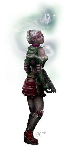 Shadowrun Cyberpunk Elf Witch by raben-aas.deviantart.com on @DeviantArt
