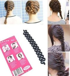 French-Hair-Braid-Tool-Magic-Twist-Styling-Bun-Maker-Holder-Clip-Roller-Hook
