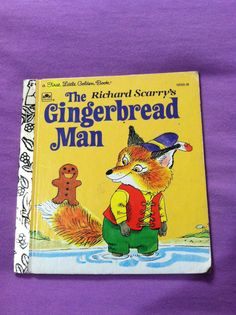 Vintage 1975 A First Little Golden Book Richard Scarrys The Gingerbread Man