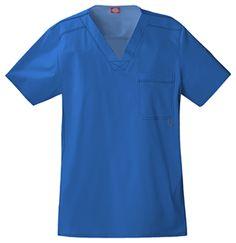 "Dickies Gen Flex ""Youtility"" Men's V-Neck Top (81722) | Alegria Cherokee Store | Always FREE shipping on orders over $25! #scrubs #uniforms #nurses #nursing #DickiesScrubs"