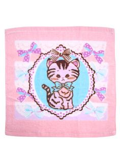 Pastel Kitten Washcloth