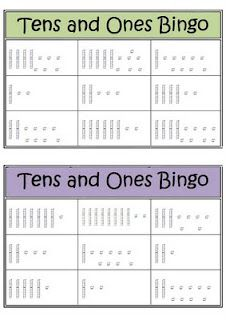 tens and ones bingo...could add hundred square to up difficulty.  Or do coins for a money activity. @lauren mason @ashley marciniak