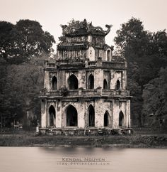 Turtle Tower (Vietnamese: Tháp Rùa), also called Tortoise Tower is a small tower in the middle of Sword Lake, Hanoi, Vietnam.