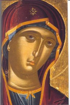 """Nektaria Karantzi in Byzantine Hymns """"The Angel cried unto Her"""" (in greek: Ο Αγγελος εβόα) [Ode 9 of the the Canon Of Pascha, tone] by Nektaria Karantzi. Religious Icons, Religious Art, Russian Icons, Byzantine Icons, Blessed Virgin Mary, Art Icon, Orthodox Icons, Sacred Art, Renaissance Art"""