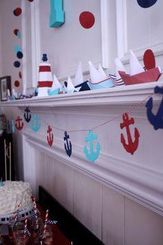 Trevor's Nautical First Birthday #nautical #party:
