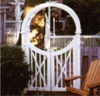 Wooden Martha's Vineyard Walkway Gate made out of Western Red Cedar.