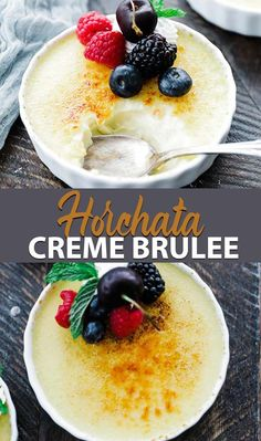 This Rumchata Crème Brulee with Whipped Cream and Berries will hands down be the best dessert you eat this summer Coffee Creme Brulee, Creme Brulee Ramekins, Desserts For A Crowd, Fun Desserts, Birthday Desserts, Sweets Recipes, Pie Recipes, Easy Recipes, Baking Stone