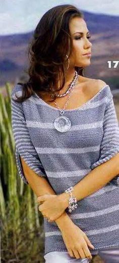 пуловер с рукавами с разрезом