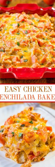 I love Mexican food and could eat it everyday. Making meals out of guacamole, salsa, and chips is one of my favorite things. But my family needs a little more and that's where this easy enchilada bake
