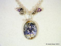 Tree Picture Pendant Necklace with Rainbow by SDJewelryDesign16, $30.00