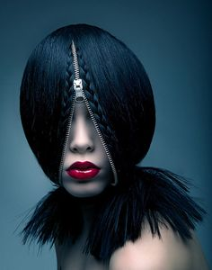 zipper hair... not for the faint at heart!