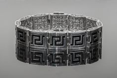"""Handmade Sterling Silver 925 Engraved Bracelet """"Byzantine Style"""", Double Face by ExclusiveSilverArt on Etsy"""