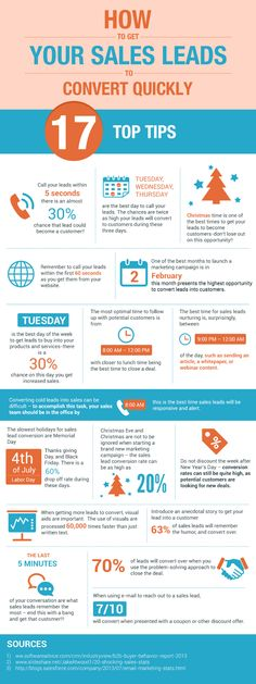 17 Tips for Converting Sales Leads #Infographic