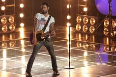"Adam during ""Start Me Up!"" #TheVoice"