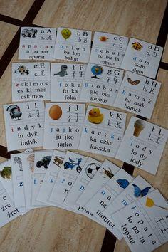 Abecadło | Kreatywnie w domu Montessori, Alphabet, Bullet Journal, Writing, Education, Reading, Dyi, Speech Language Therapy, Cuba