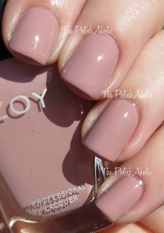 Zoya Naturel Collection Swatches // Rue is a pink toned neutral creme.