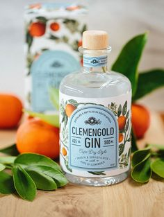 ClemenGold Gin is hand crafted according to an age-old recipe. Classic Cape Dry style, it is smooth with subtle hints of citrus complementing almond and cinnamon. Excellent in a refreshing gin and tonic, it also is good in the classic gin cocktails. Gin Tonic, Alcohol Bottles, Gin Bottles, Beverage Packaging, Bottle Packaging, Coffee Packaging, Food Packaging, Triple Sec, Product Design
