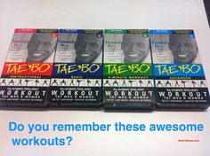 Out of all the workouts I've tried, Tae Bo is still my favorite and gets me the best results!