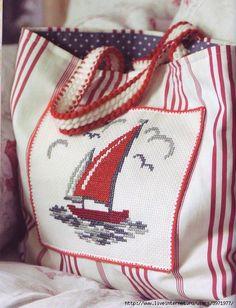 Ne Desem Beğenirsin?: Deniz Temalı Etamin İşi Çanta