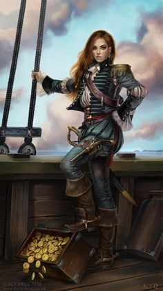Gráinne Ní Mháille Picture  (2d, character, girl, woman, portrait, pirate, treasure)
