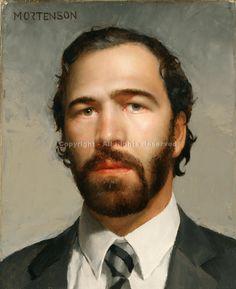 Self Portrait - Oil by Gregory Mortenson