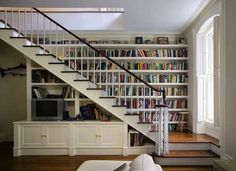 Hack the underside of your stairs for extra storage space