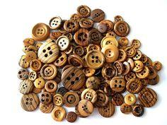 vintage wood buttons mix