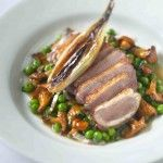 Duck breast with roast shallots