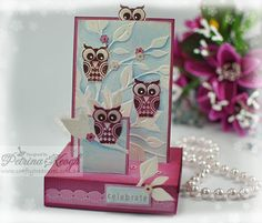 "CC416 ""Double"" Free Standing Popup Card by Qrafty One - Cards and Paper Crafts at Splitcoaststampers"