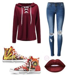 """""""Flash💛❤️⚡️"""" by prettylittlelizzy on Polyvore featuring WithChic and Converse"""