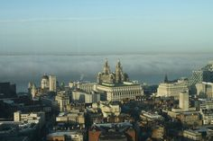 The fog rolling into the of Liverpool from the River Mersey - would have loved to have actually seen this for myself