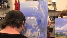 игра света, картина маслом, масляная живопись для начинающих, Сахаров