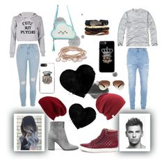 """""""Relationship goals"""" by jellokat456 ❤ liked on Polyvore featuring River Island, Hollister Co., Topman, Steve Madden, Gianvito Rossi, Halogen, Coal, Ray-Ban and Marjana von Berlepsch"""