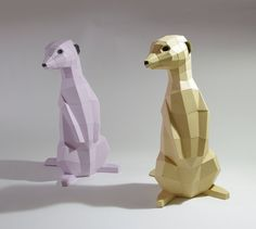 Meerkat Papercraft Kit various colors por PaperwolfsShop en Etsy