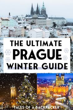 The Ultimate Prague Winter Guide: What to do in Prague during Winter. Prague in the winter is a Christmas wonderland. Road Trip Europe, Europe Travel Guide, Travel Destinations, Travel Guides, Holiday Destinations, Visit Prague, Prague Map, Prague Food, Prague Travel