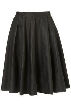 Topshop Premium Leather Calf Skirt