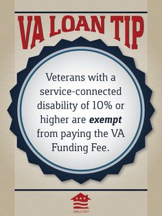 Veterans with a service-connected disability are exempt from paying the VA Funding Fee.