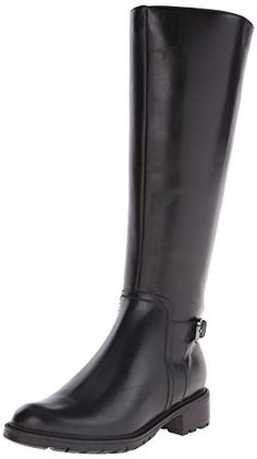 Blondo Women's Vassa Waterproof Riding Boot, Black Leather, 8 W US *** You can get additional details at the image link.