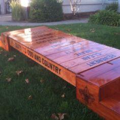 Cross-over Bridge adapt for girl scouts using the pallet idea! Stencil wording
