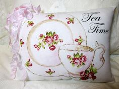 Hey, I found this really awesome Etsy listing at https://www.etsy.com/listing/279256076/tea-time-pillow-pink-roses-teacup-pillow