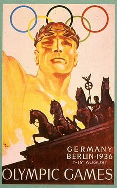 Hard to believe Germany hosted the Berlin Olympics in but the bid was won in Hitler saw the Games as an opportunity to promote his government and ideals of racial supremacy. Germany won more medals than any other nation. Nazi Propaganda, Berlin Olympics 1936, Summer Olympics, Vintage Travel Posters, Berlin Germany, Olympic Games, Olympic Sports, Jesse Owens, 1930s