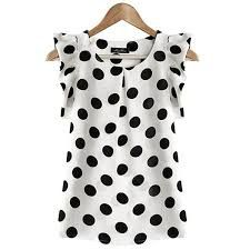 Cotton Blouses New 2017 Summer Women Kawaii Polka Dot Printing Short Sleeve Shirt Tops Plus Size Blusas Shirts Haut Femme Blouse Short Sleeve Blouse, Sleeveless Blouse, Shirt Sleeves, Ruffle Blouse, Ruffle Top, Ruffled Shirt, Long Sleeve, Summer Blouses, Summer Tops