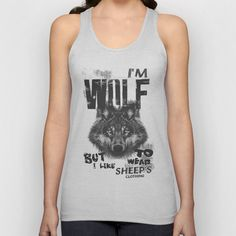 Wolf Unisex Tank Top by ohzemesmo - $22.00