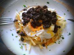 Huevos Fritos, Omelet, Deli, I Foods, Tapas, Waffles, Fries, Brunch, Pork