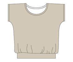 kostenloses Schnittmuster für ein T-Shirt. Toll für den Sommer mit einem leichten Jersey.