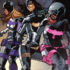 Batgirls Stephanie Brown, Cassandra Cain & Tiffany Fox in Batgirl: Futures End #1. Only made me miss the pre-52 even more.